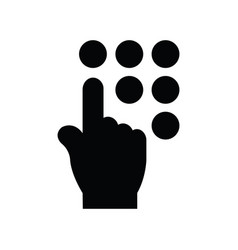 Click hand icon black icon vector