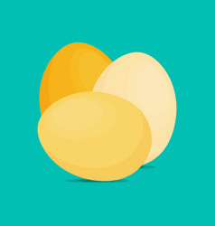 Eggs flat icon chicken egg breakfast vector