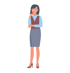 Happy businesswoman in formal clothes vector