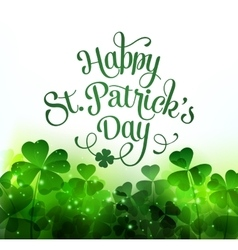 Happy Saint Patricks Day Background vector image