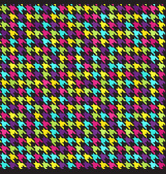 houndstooth pattern seamless background vector image vector image