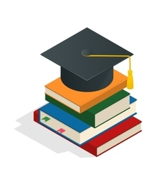 Isometric Graduation concept Heap of vector image vector image