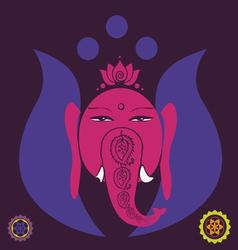 lotus Ganesh vector image vector image