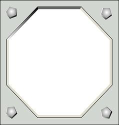 matal frame vector image vector image