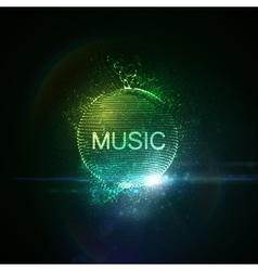 Music neon sign vector