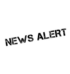 News alert rubber stamp vector