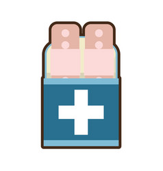Plaster first aid kit cross vector