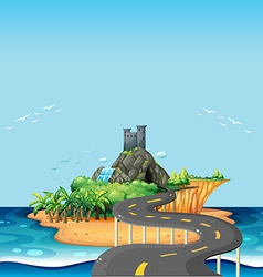 Road and island vector image