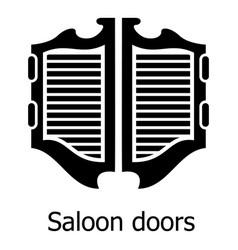 Saloon door icon simple black style vector