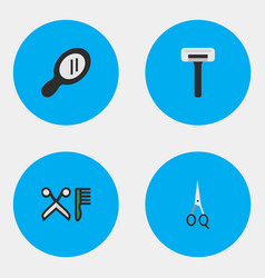 set of simple hairdresser vector image