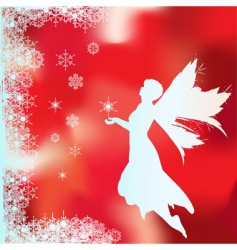 snow fairy vector image