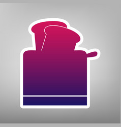 Toaster simple sign purple gradient icon vector