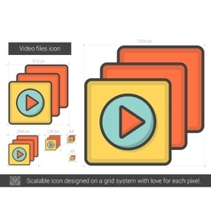 Video files line icon vector