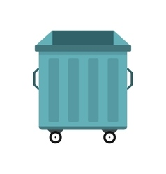 Dumpster on wheels icon flat style vector