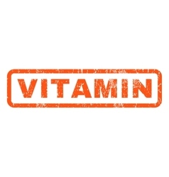 Vitamin rubber stamp vector