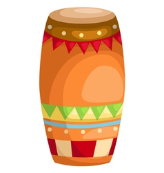 Drum indian music vector