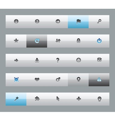 Interface buttons for signs vector image