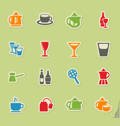 Utensils for beverages icon set vector