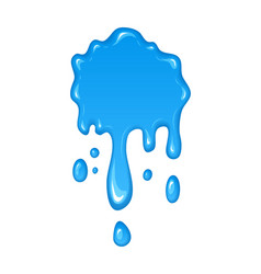 Water drips and flowing vector