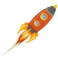 Comic rocket ship vector
