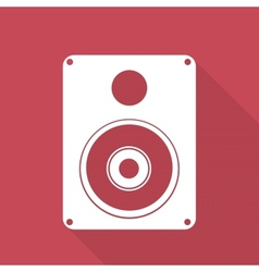 Subwoofer web icon vector