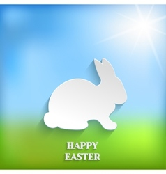 Cute easter rabbit bunny vector