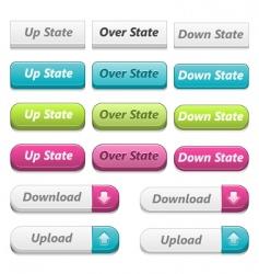 web 3d buttons vector image