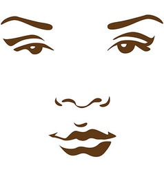 Woman face in line vector