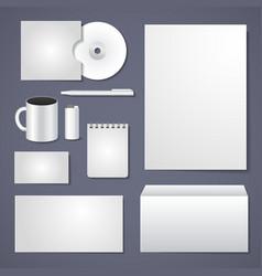 Empty corporate identity template vector image