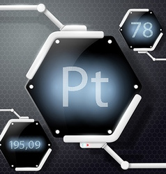 Chemical element platinum vector
