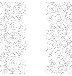 Seamless abstract curly wave pattern vector