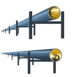 Monetary oil pipe vector