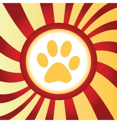 Paw print abstract icon vector