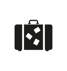 The suitcase icon luggage symbol flat vector