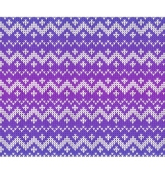 Purple knitted scandinavian ornament seamless vector