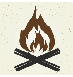 Bonfire flame vector