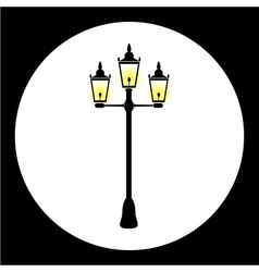 Simple street lamp isolated black icon eps10 vector