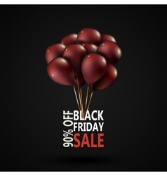 Black friday sale inscription photorealistic vector