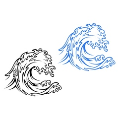 Big Sea Wave vector image