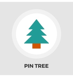 Conifer icon flat vector