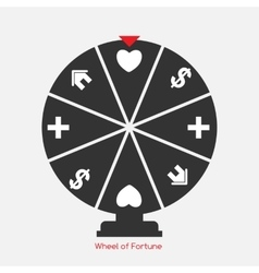 Wheel of fortune lucky icon with money health vector