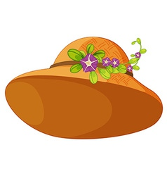 A hat with plants vector