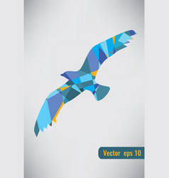 Abstract colorful bird flying abstract colorful vector