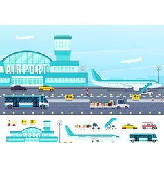 Airport flat style vector