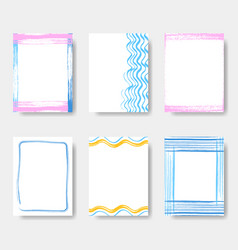 beautiful journal card frames vector image vector image