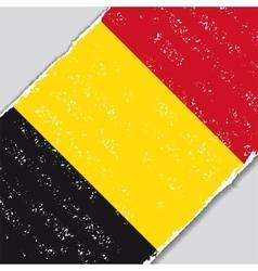 Belgian grunge flag vector
