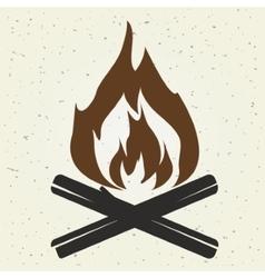 bonfire flame vector image