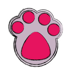 Cat footprint isolated vector