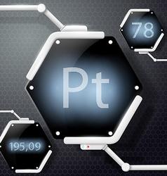 chemical element platinum vector image