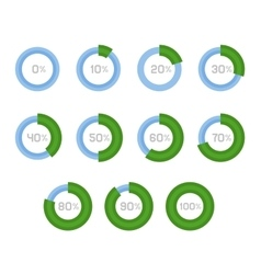 Circle Diagram Pie Charts Infographic Elements vector image